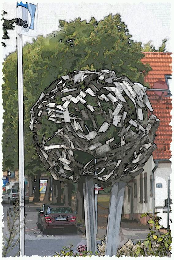 Kunst im Ort QI2015 Weltkugel