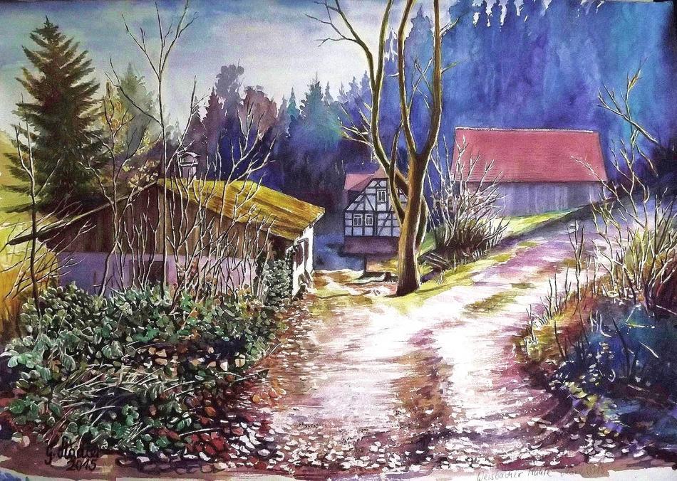Weisbacher Mühle im März