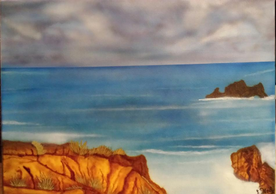 Airbrush auf Leinwand , Motiv  Südfrankreich.jpg