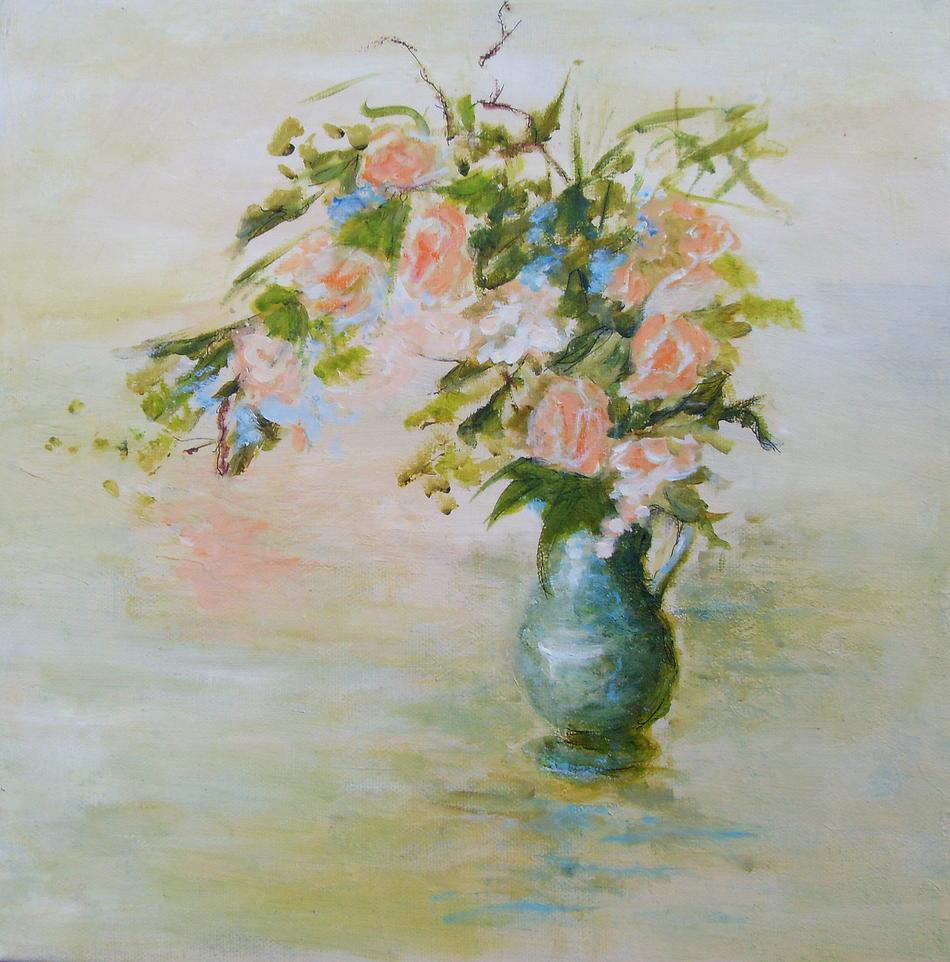 Flowers in Vase - SOLD