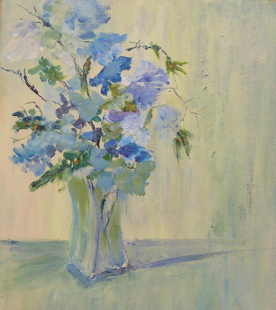 Blaue Blumen - SOLD