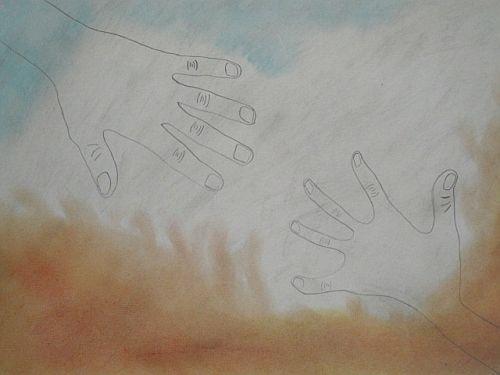flehende Hand