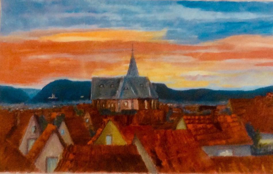 Sonnenuntergang in Landau