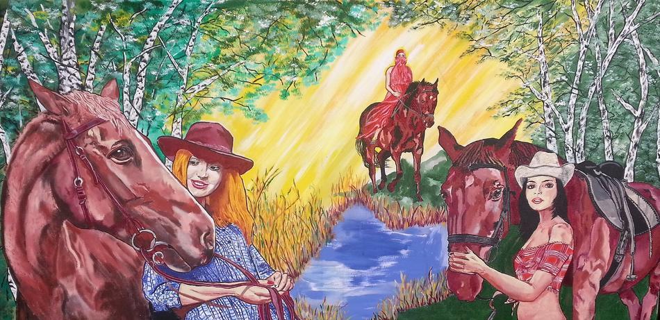 girls an horses/ Frauen und Pferde