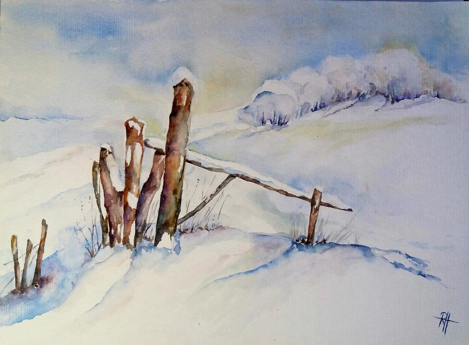 Weiße Landschaft