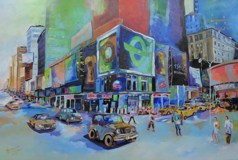 Kunstwerk New York - Broadway von