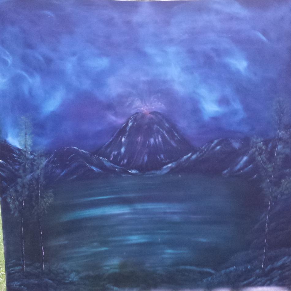 Vulkan am See