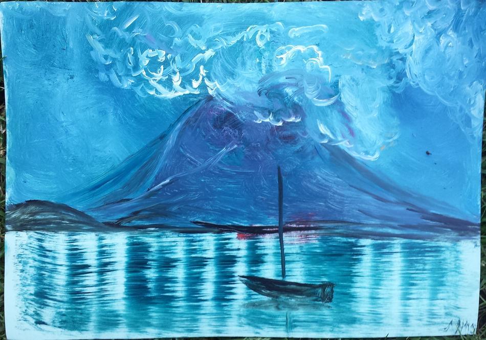 Boot vor Insel