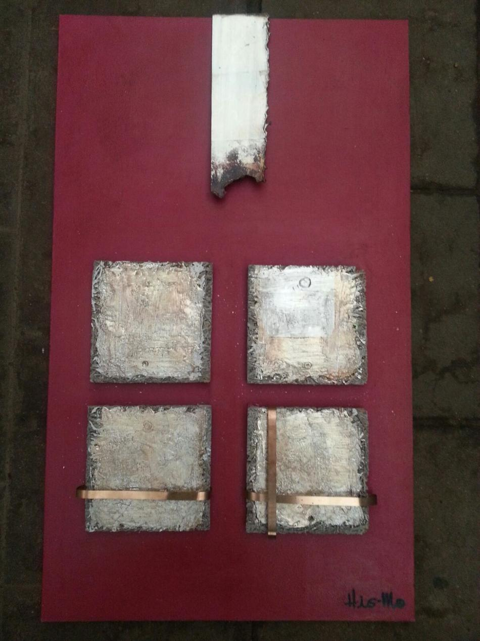 Silber u. Kupfer rot