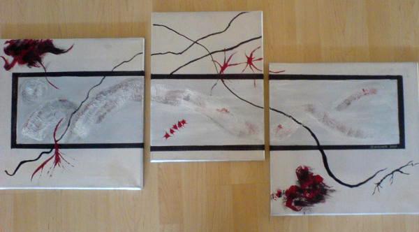 kunstwerk triptychon von. Black Bedroom Furniture Sets. Home Design Ideas