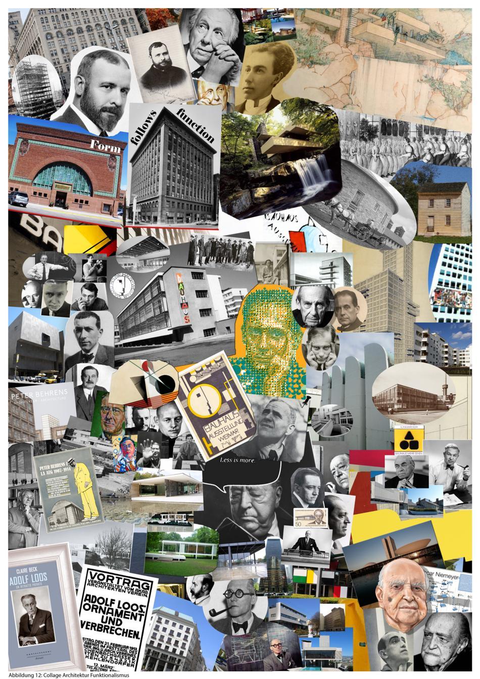 Collage Architektur Funktionalismus