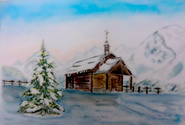 Bergkapelle im Schnee