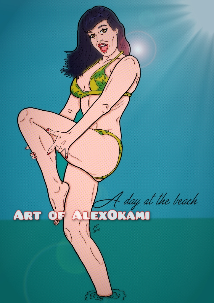 Bettie at the Beach