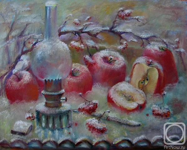 Äpfel im Schnee