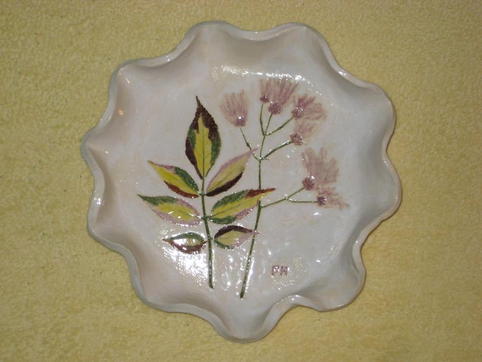Holunderblatt-Schale mit Blume
