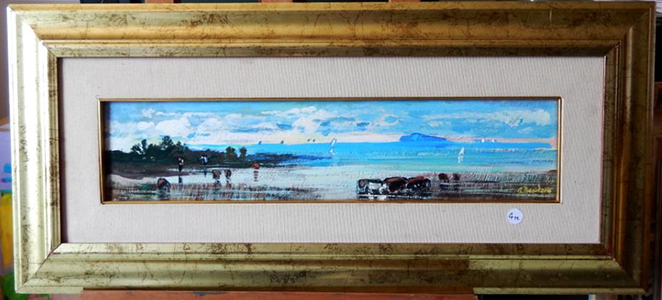 Fiume sele sulla riva del mare Paestum