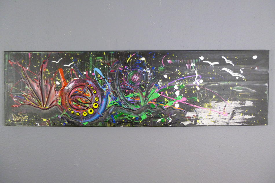 Acrylbild 40x140cm ( Gonzo V. )