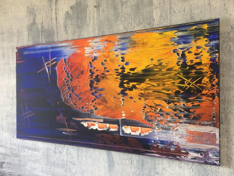 Abstraktes Acrylbild 55x110 (Gonzo V.)