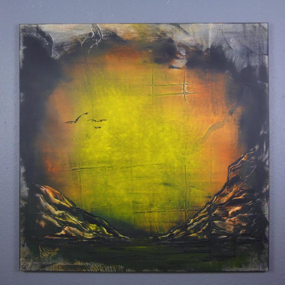 Abstrakte Kunst 100 x 100 (Gonzo V.)