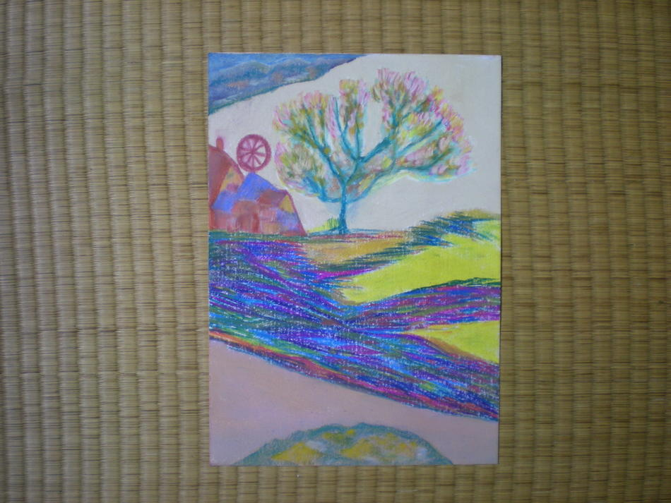 Windrad und Baum