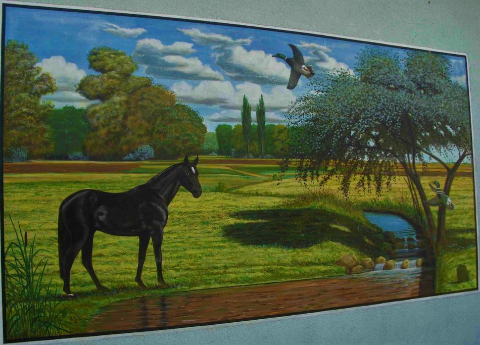Pferd an der Tränke