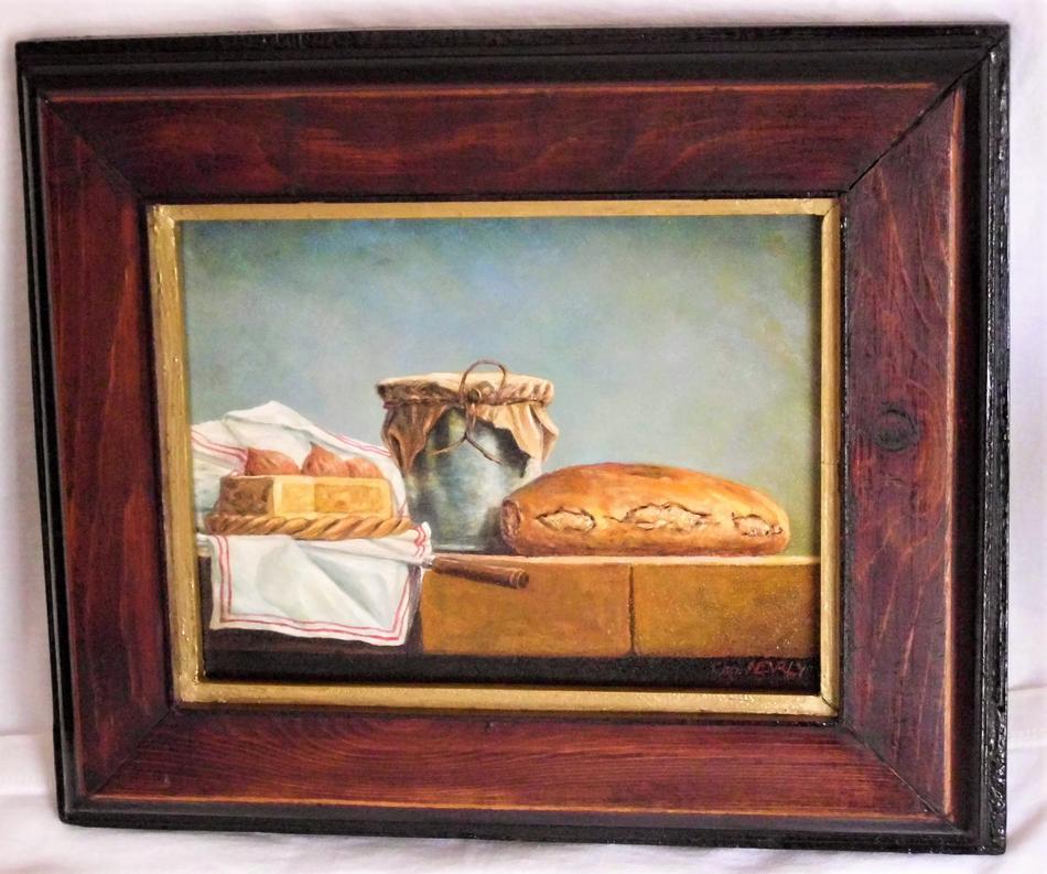 Stilleben Käse und Brot
