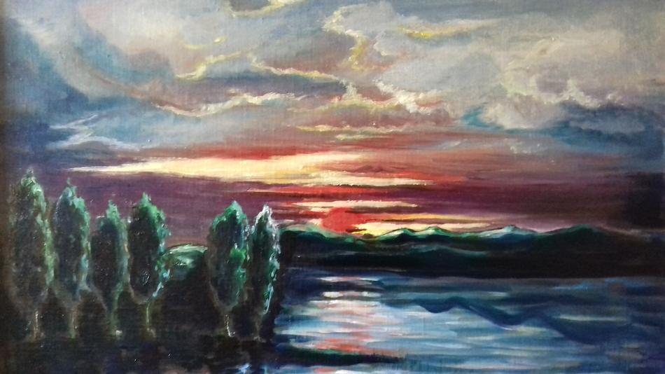 Landschaft Sonnenaufgang