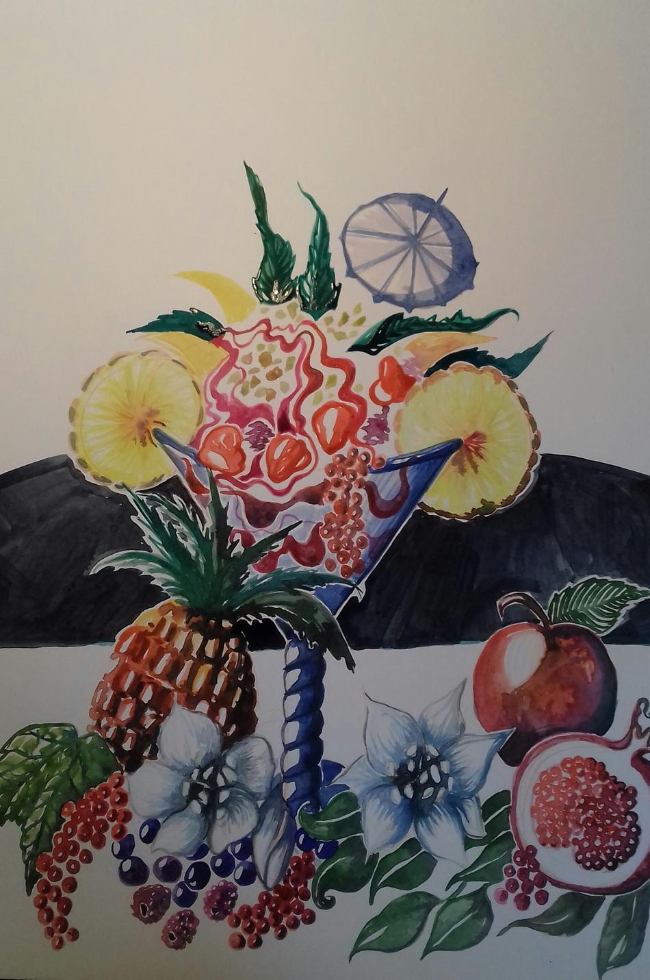 Köstlicher Früchtebecher