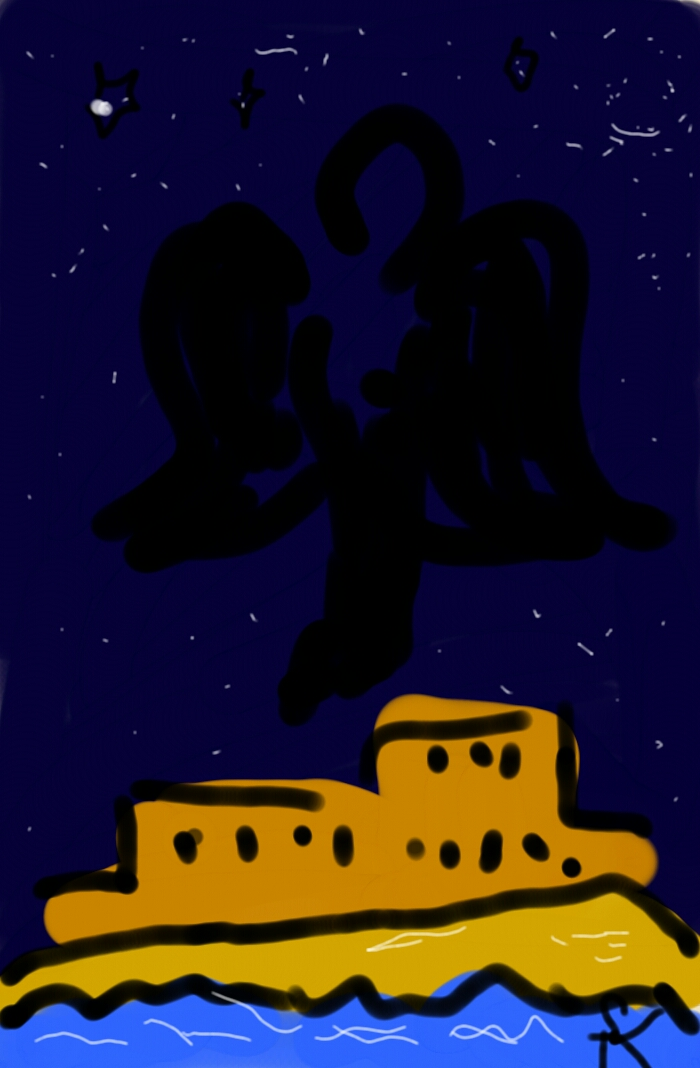Nachtflug über Alhambra