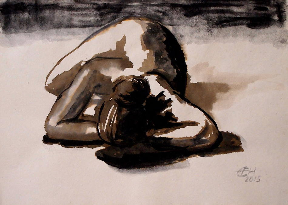 nude with shadows