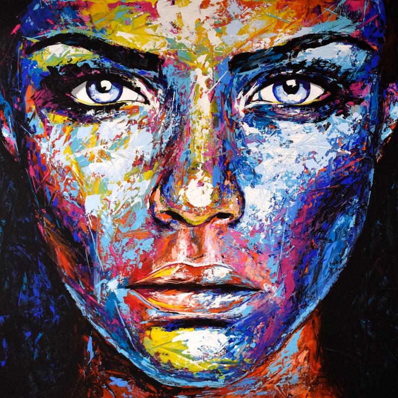 Original Gemälde Leinwand Acryl modern Gesicht abstrakt Bild 895 Hand Portrait