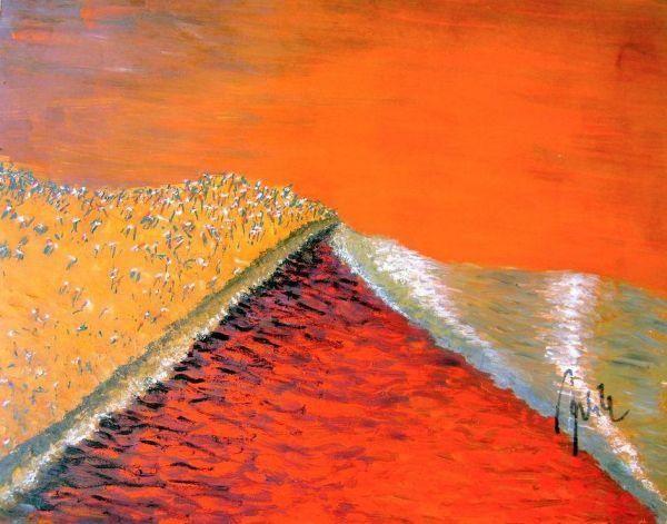 Am Strand von Leba vor ca. 7000 Jahren