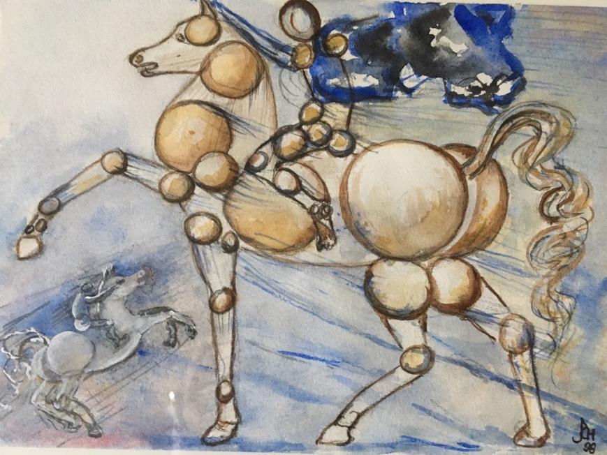 Der molekulare Reiter nach Dalí