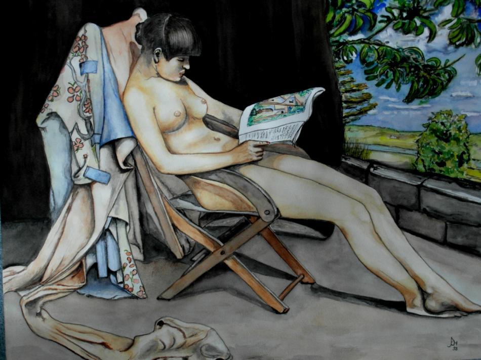 Lesendes Mädchen nach Roussel