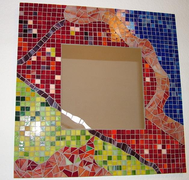 Abstrakt-Mosaikspiegel