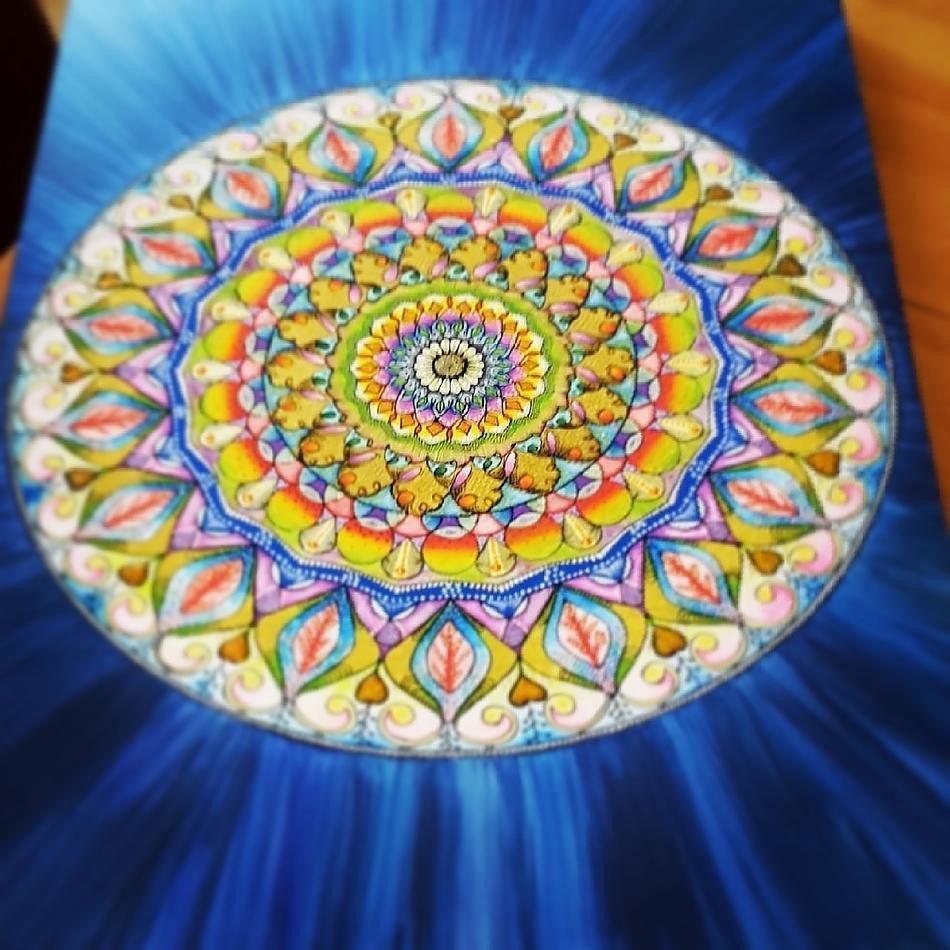 Mandala blauer Stern