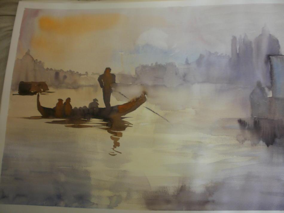 Venedig Skizze Aquarell