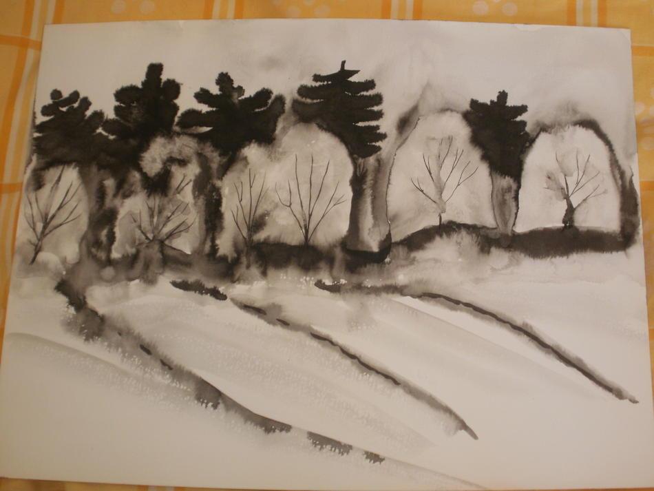 Winterwald Tusche