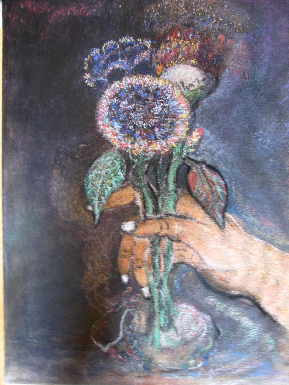 Blumen in Hand