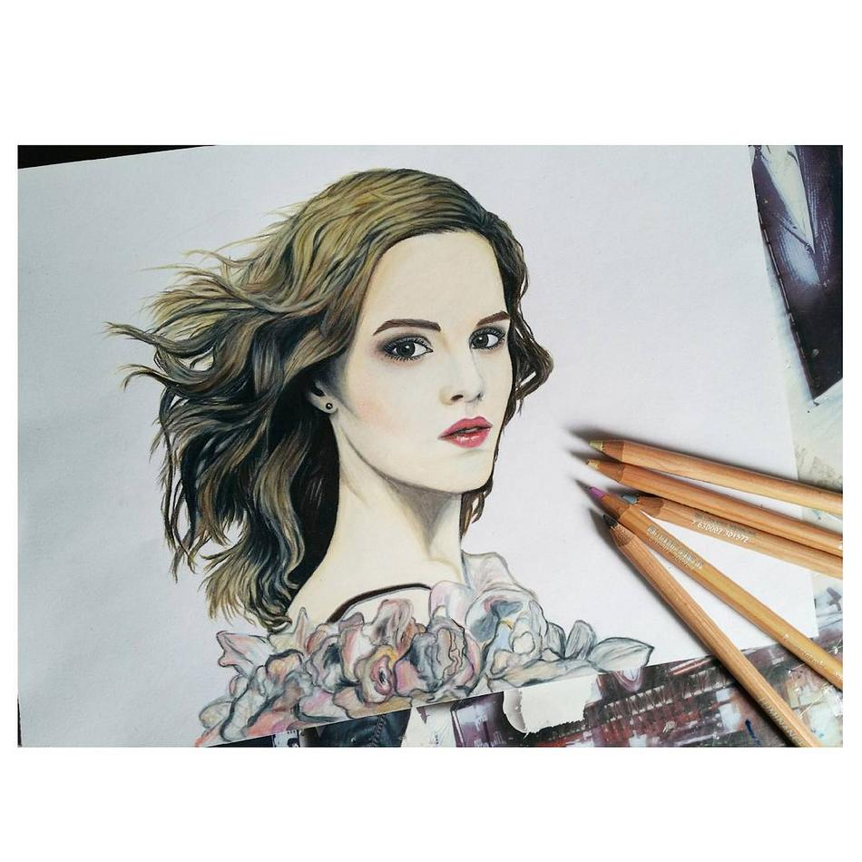 Emma Watson Portrait Print