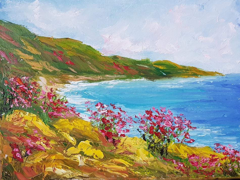 Blumige Küste