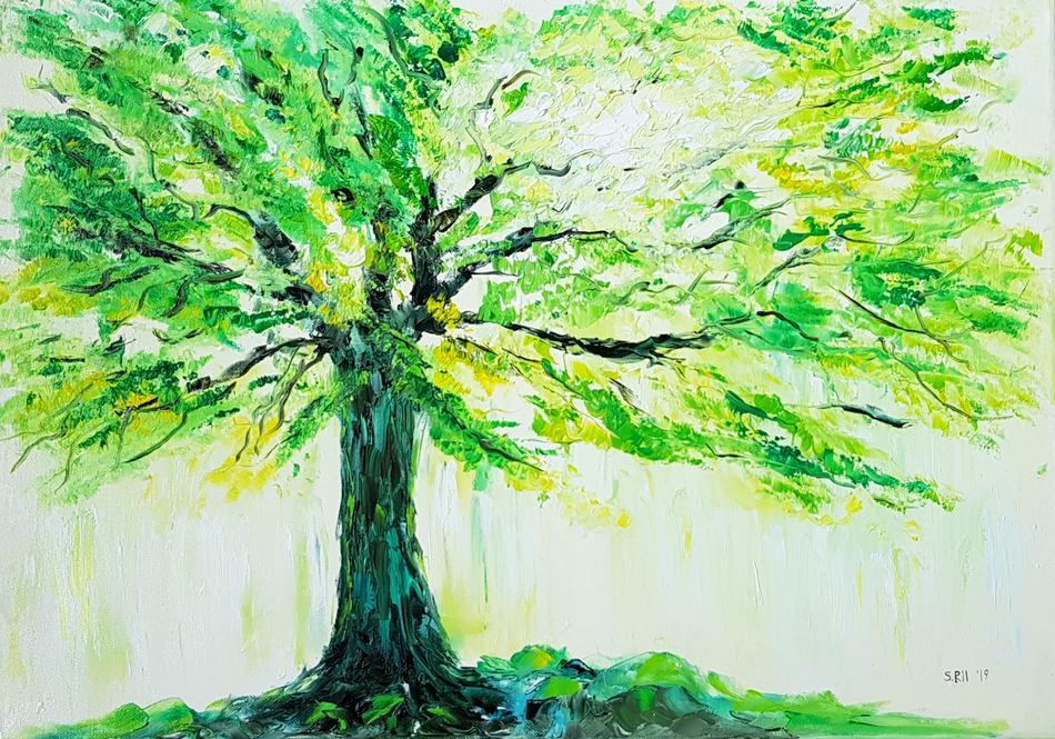Magic green tree