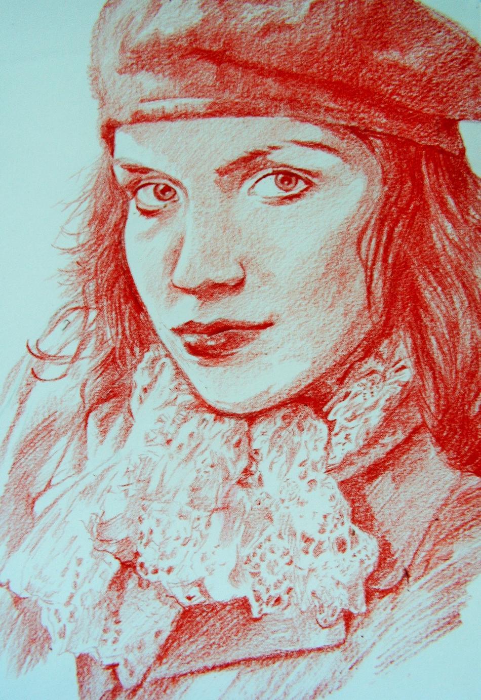 Frau im Rot