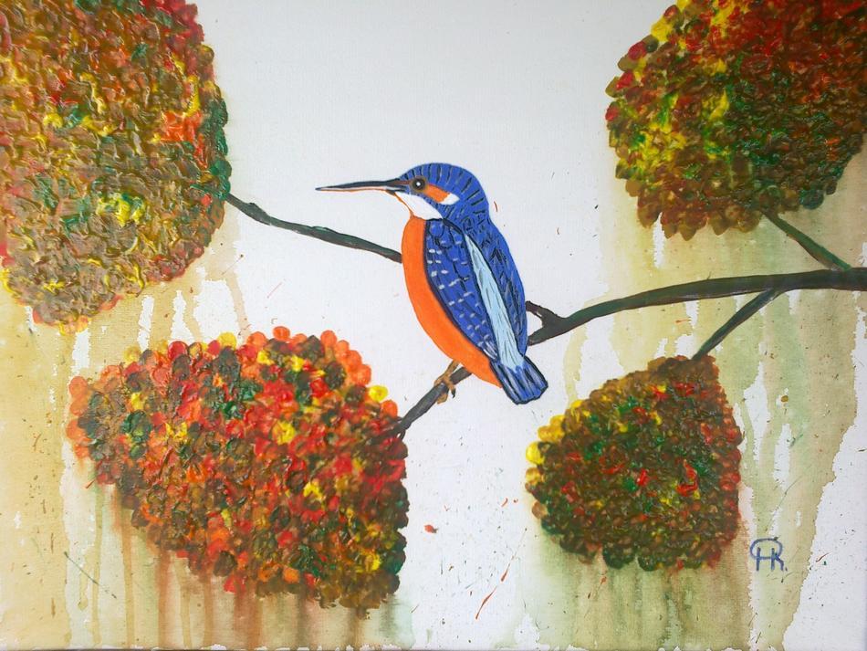 Eisvogel im Herbst