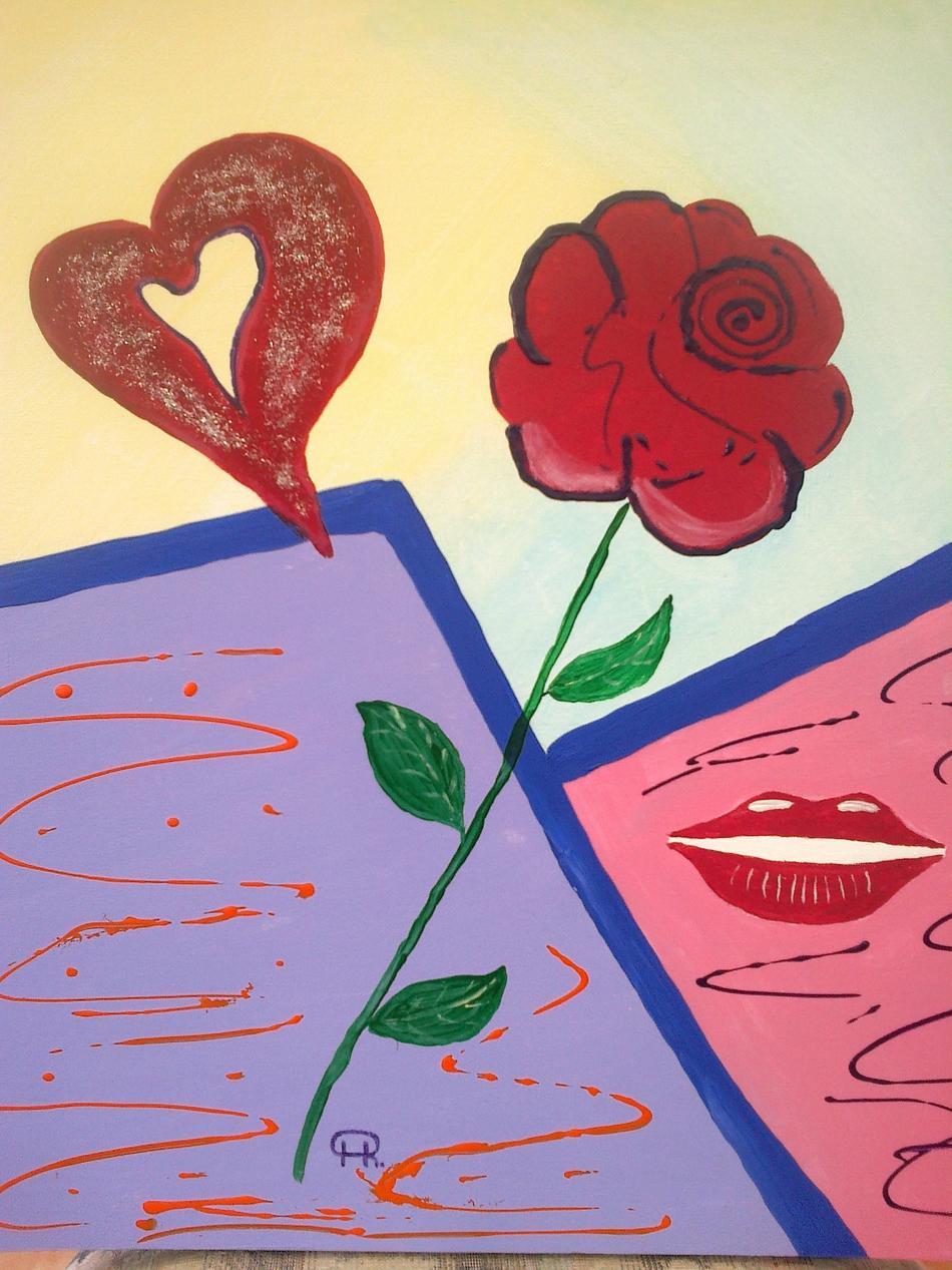 Rose, Kuss, Herzflimmern