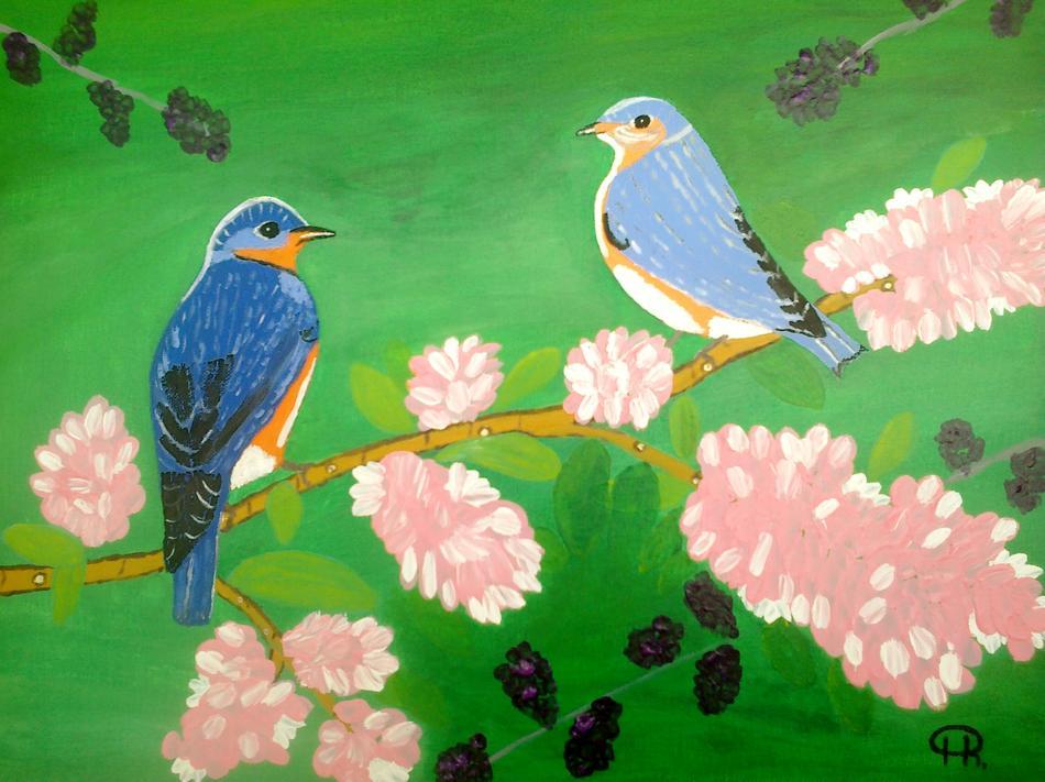 Vogelpaar im Frühling