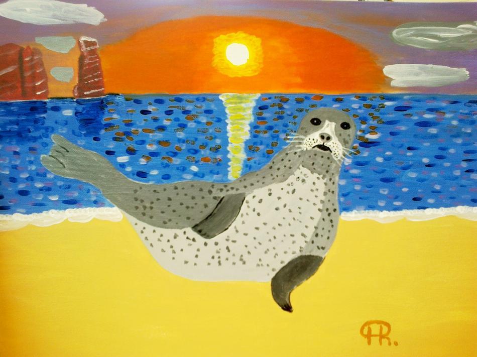Ein Seehund