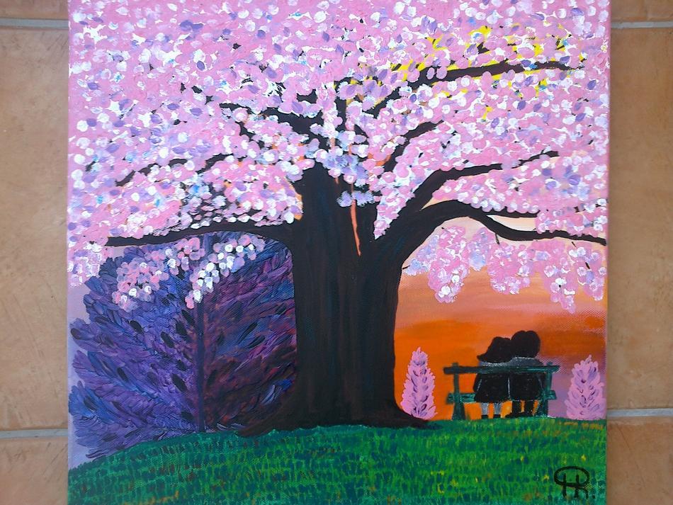 Unter einem Kirschbaum