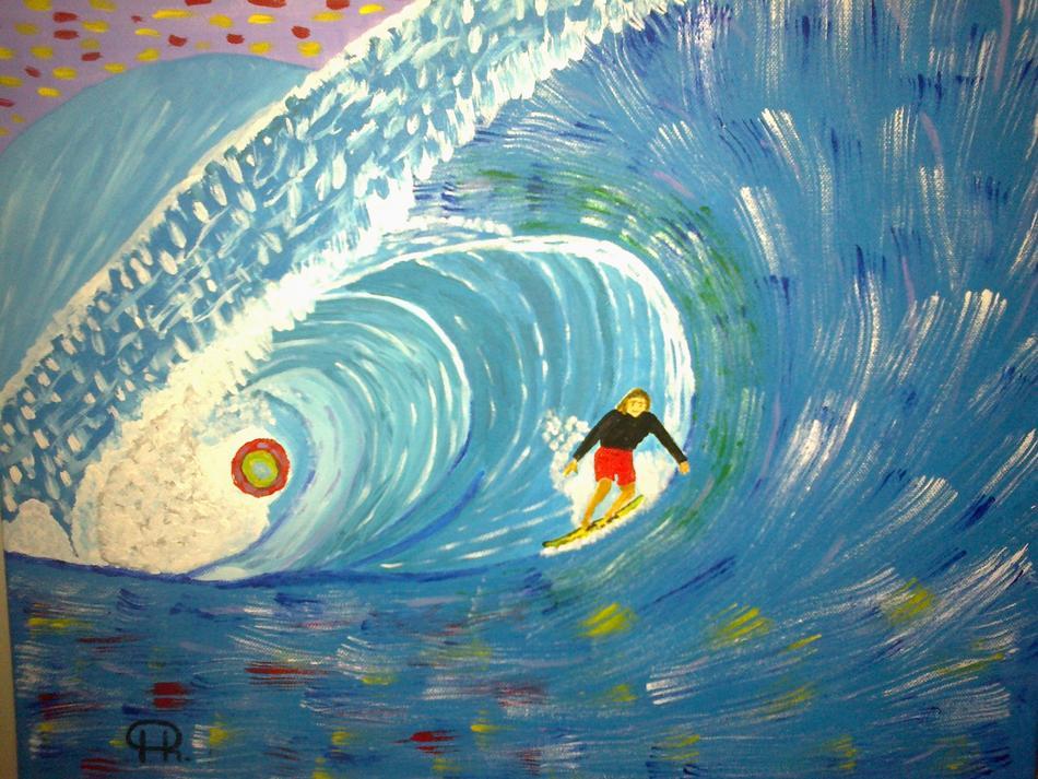 Surfen in der Welle