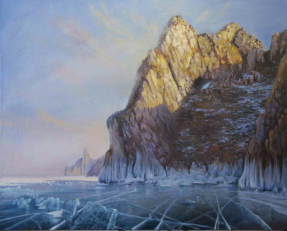 Baikalsee. Olkhon Insel. Rock Sagan-Khushun.